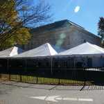 2-30'x30' Frame Tents and a 20'x30' Frame Tent for a book sale