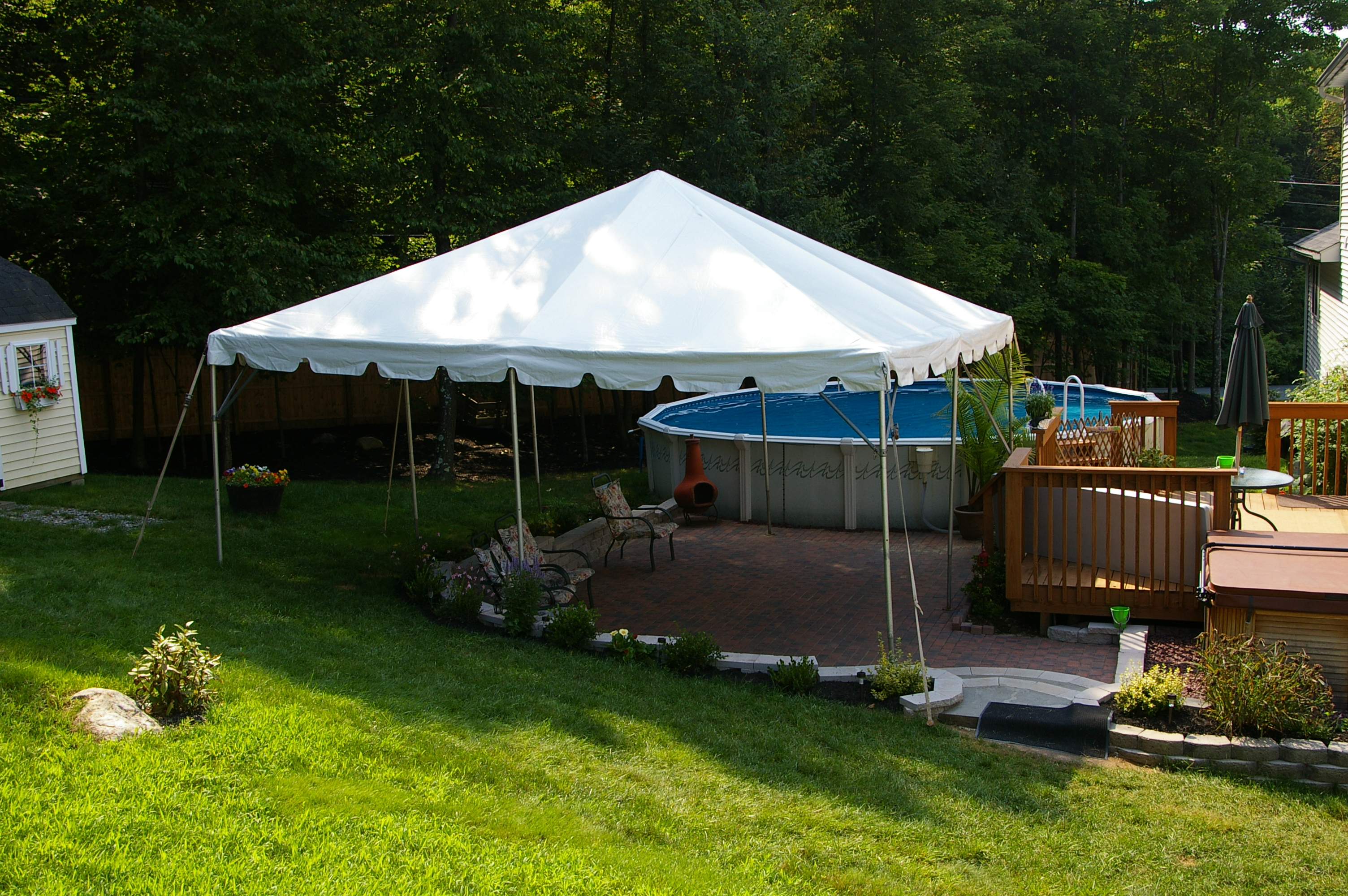 20 X20 Frame Tent Over Patio