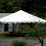 20'x20' Frame Tent by shed