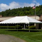 20'x30' Frame Tent in Front of Factory