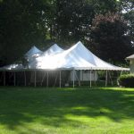 30x60 Pole Tent in side yard