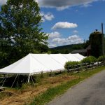 30x90 Pole Tent at a Vineyard