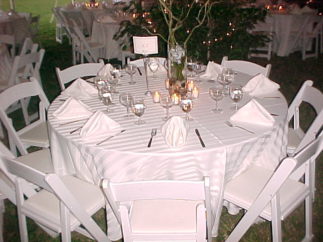 White Party Chairs Ceremony White Party Chairs At 60in Round Table