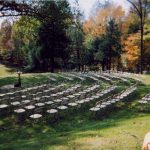 Samsonite Folding Chairs setup for a Wedding Ceremony Outside