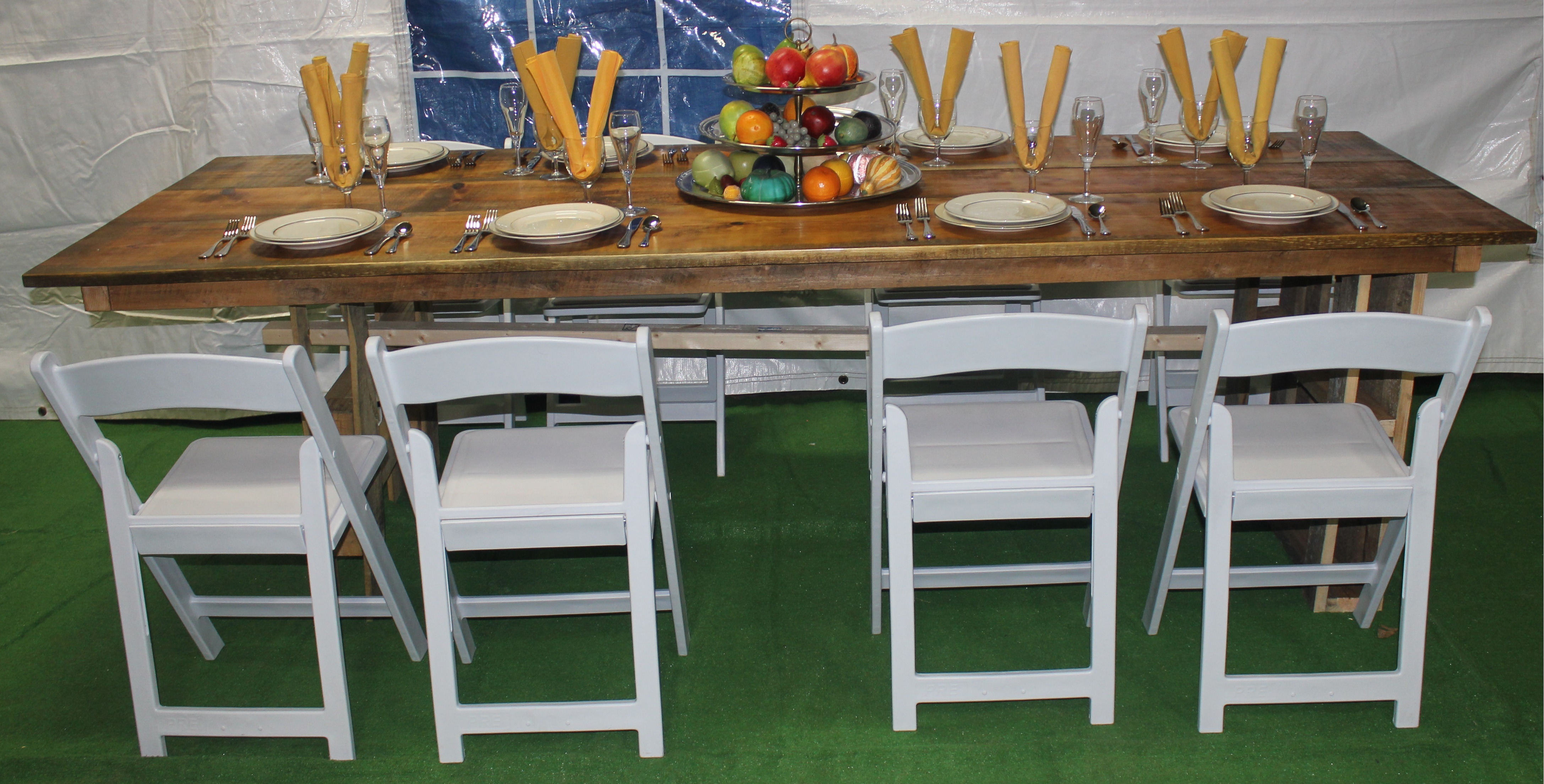 Superb img of Rustic Wooden Farm Table Taylor Rental of Torrington with #9D6F2E color and 4348x2208 pixels