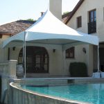 16x16 Frame Tent on Pool Patio