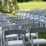 White Party Chairs set for Ceremony