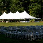 White Party Chairs Set for Ceremony with 40x100